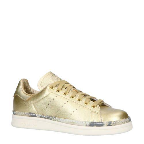 adidas Originals Stan Smith New Bold W leren sneakers goud ...