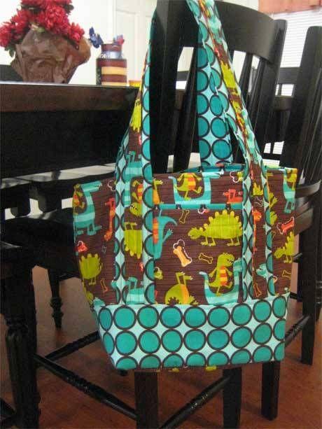 Free Bag Pattern and Tutorial - Purse/Diaper Bag | Tote Bag Sewing ...
