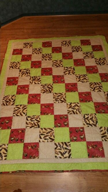 Chook quilt I made for a lady. she loved it