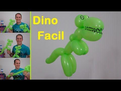 como hacer dinosaurios con globos - figuras con globos largos