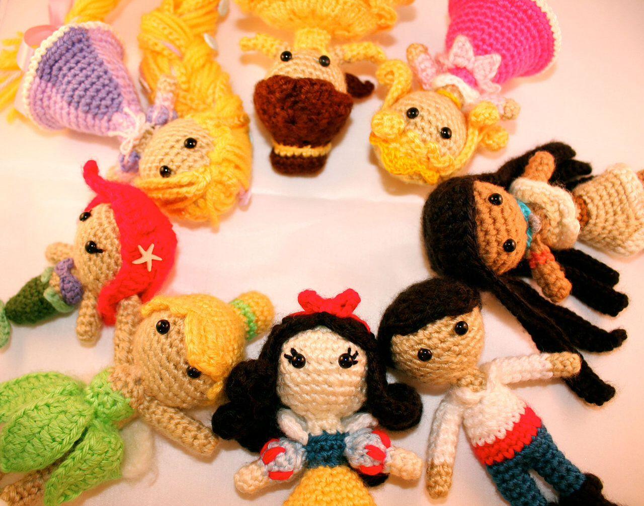 Amigurumis Personajes De Disney : Amigurumi disney princess dolls amigurumi crochet and crafts