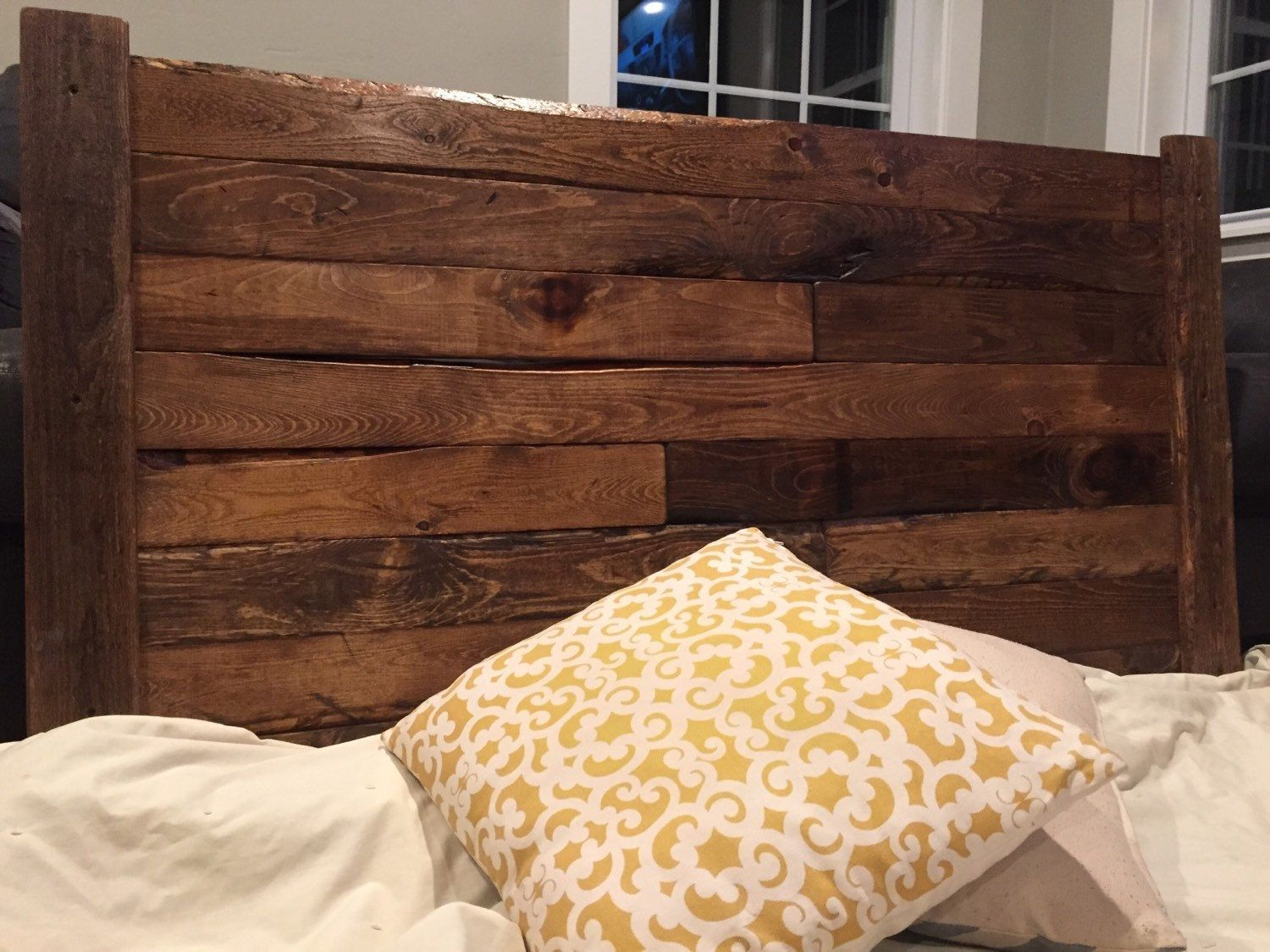 Rustic headboard \'Hank\', King, Queen, Full, Twin wood headboard ...