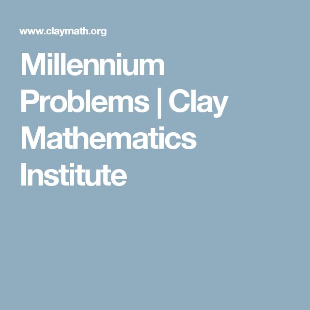 Millenium-Probleme
