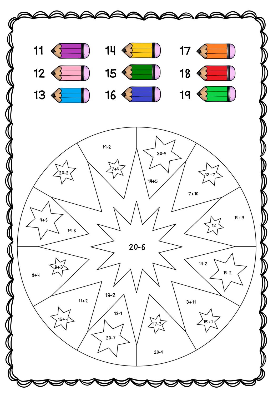 Rechnen und malen Zahlen 20 20 – Unterrichtsmaterial im Fach ...