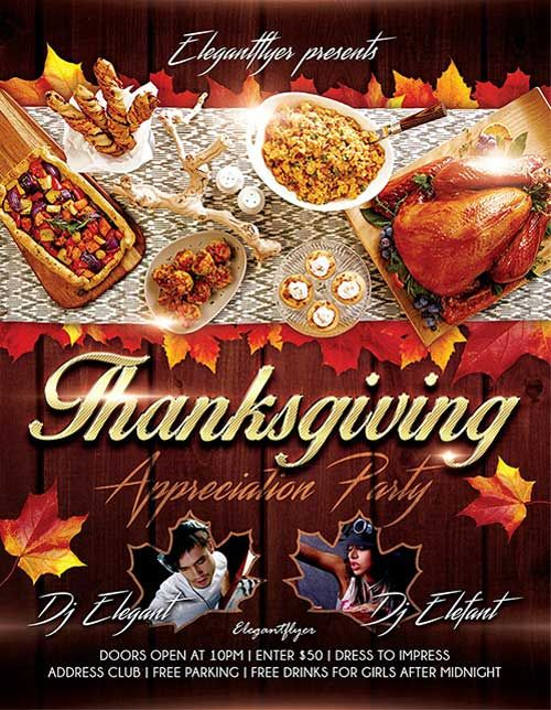 free thanksgiving flyer templates