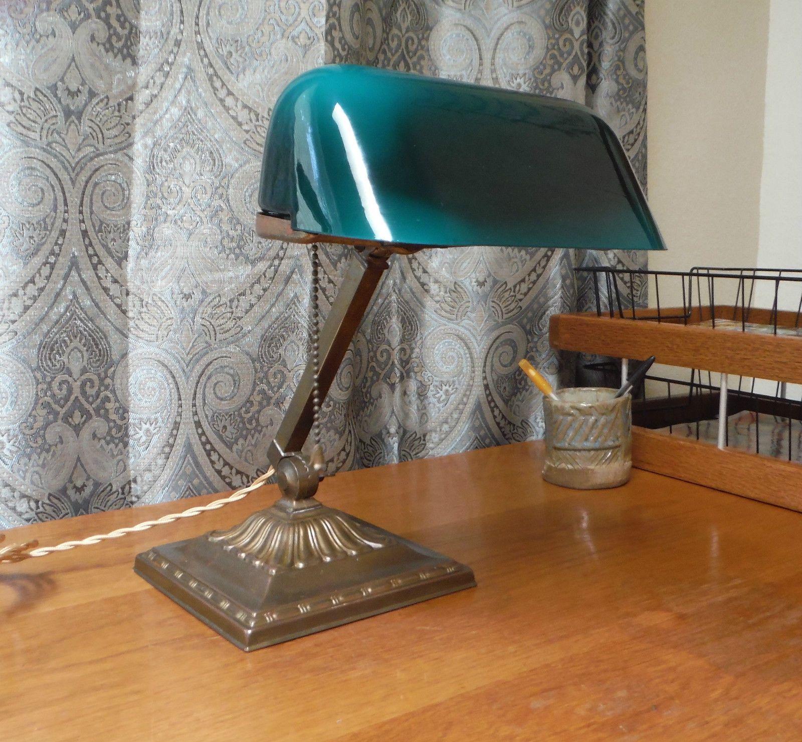 Antique Emeralite Lamp #8734 in Antiques, Decorative Arts, Lamps ...