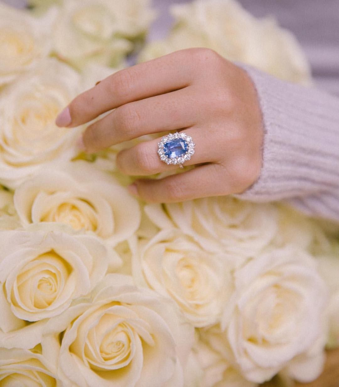 The Pale Blue Sapphire Ring Of Newly Engaged Rosielondoner