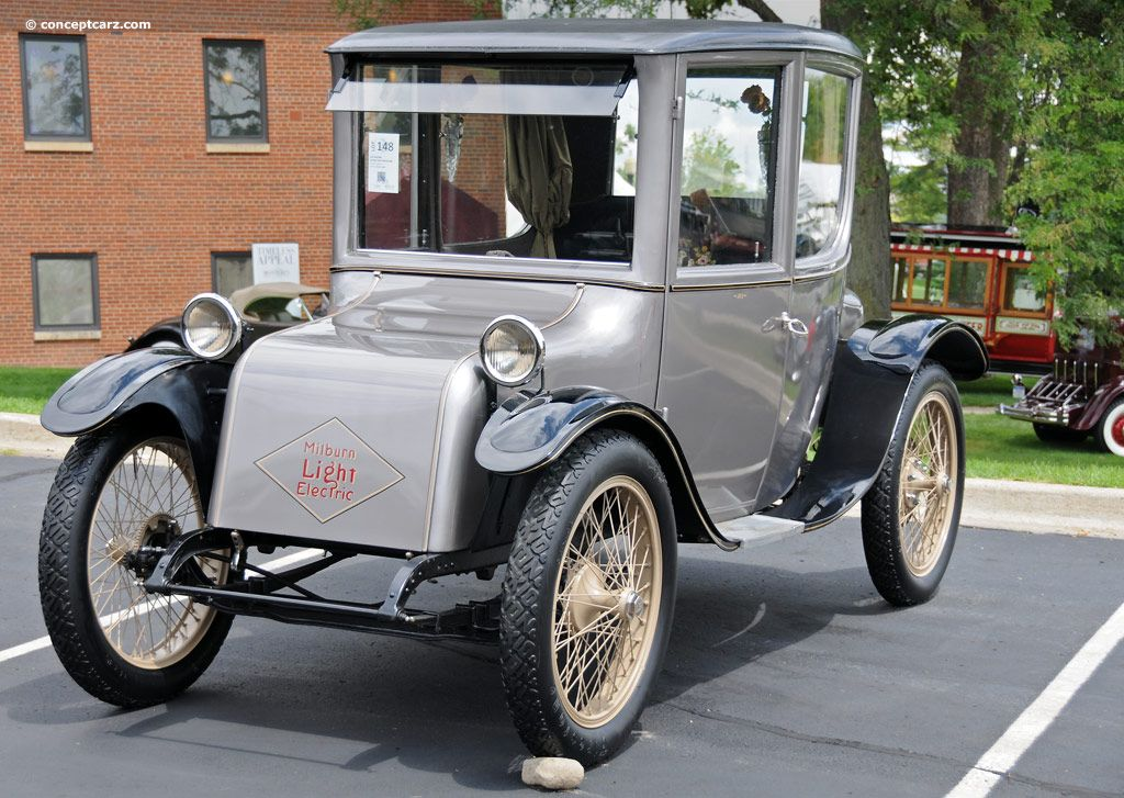1922 Milburn Electric Model 27l Vehicle Cars Usa Retro