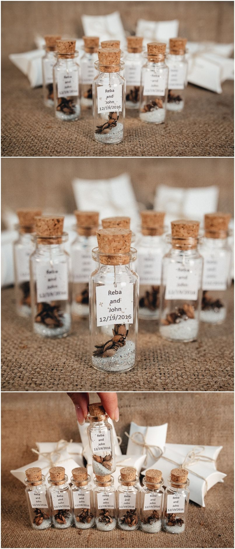 Wedding Favors For Guests Rustic Thank You Gift Personalized Message