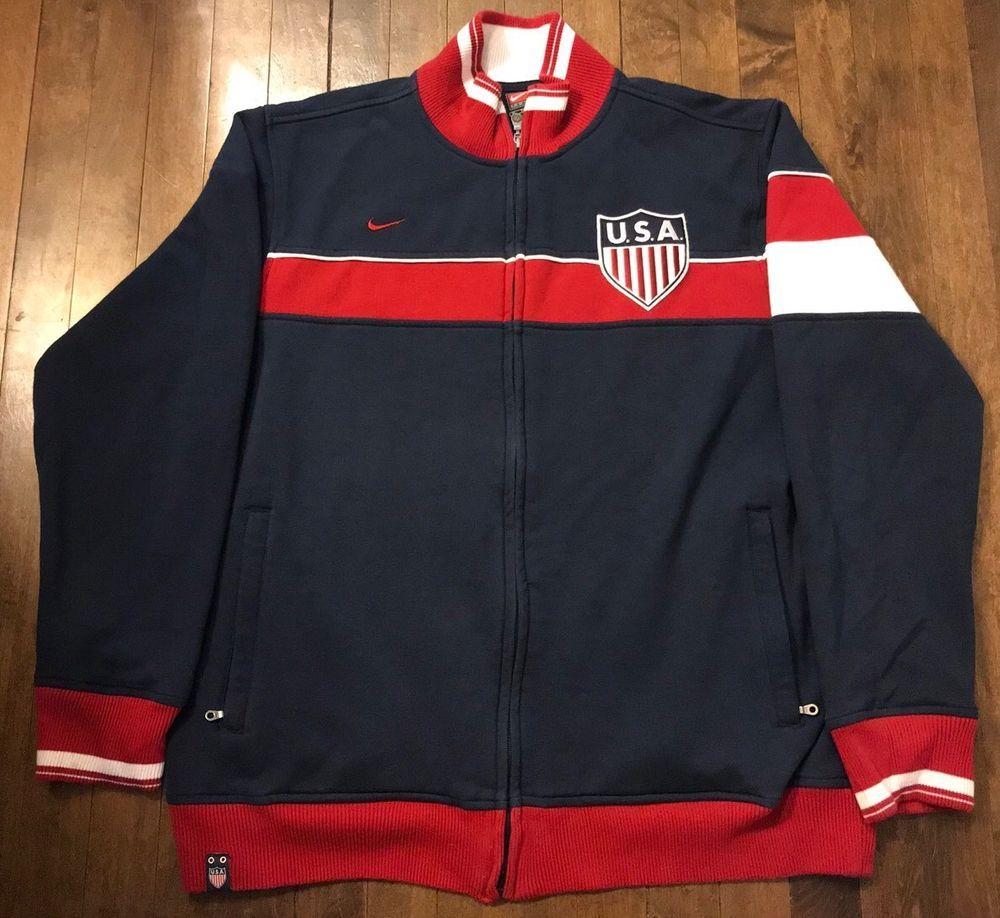 3da1cf5d7 Nike USA National Team Soccer Full Zip Cotton Track Sweatshirt Jacket Mens  XL (eBay Link)