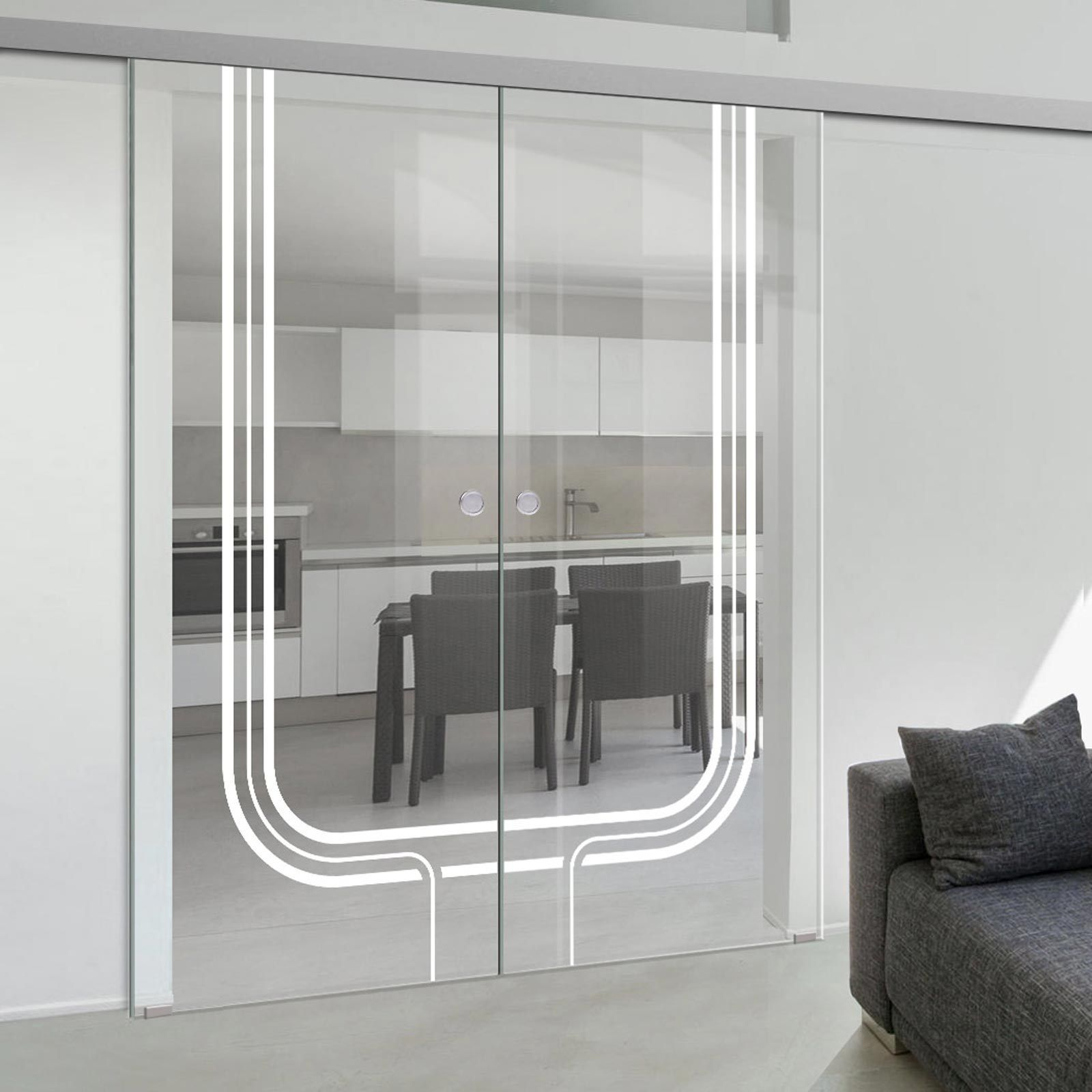 Double Glass Sliding Door Holburn 8mm Clear Glass Obscure Printed Design Planeo 60 Pro Kit Sliding Glass Door Door Cost Glass Door