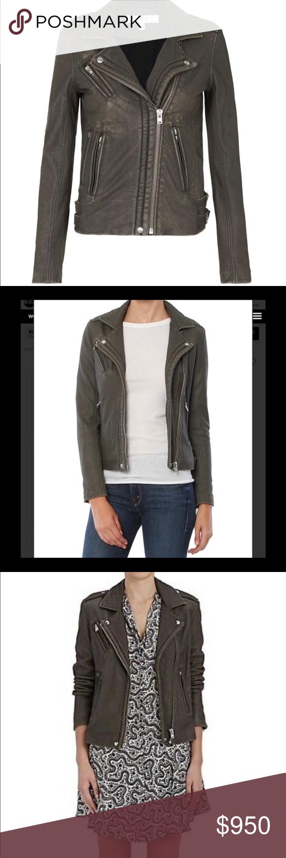 Iro Han Leather Moto Jacket Grey Size 38 Gray Jacket Leather Moto Jacket Lambskin Leather Jacket [ 1740 x 580 Pixel ]