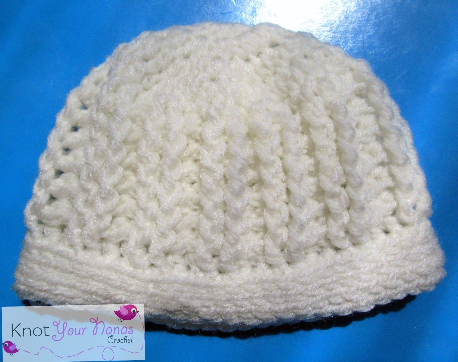 Easy Ribbed Baby Hat | Free Easy Crochet Patterns | Pinterest ...
