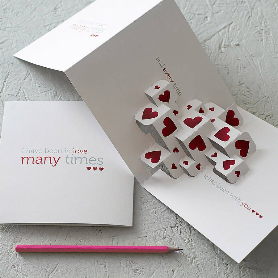 Much Love 3D Greetings Card – 3d Birthday Card