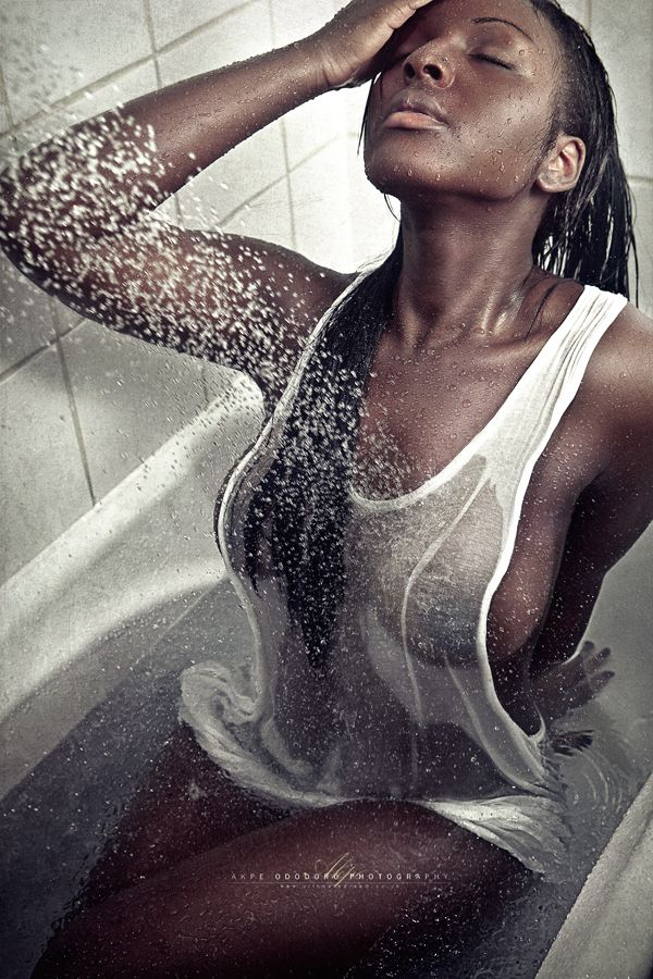 Ebony wet t shirt contest
