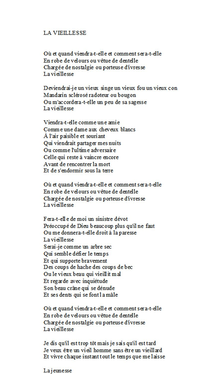 La Vieillesse Georges Moustaki Citations Vieillesse Poeme Et Citation Paroles De Chansons