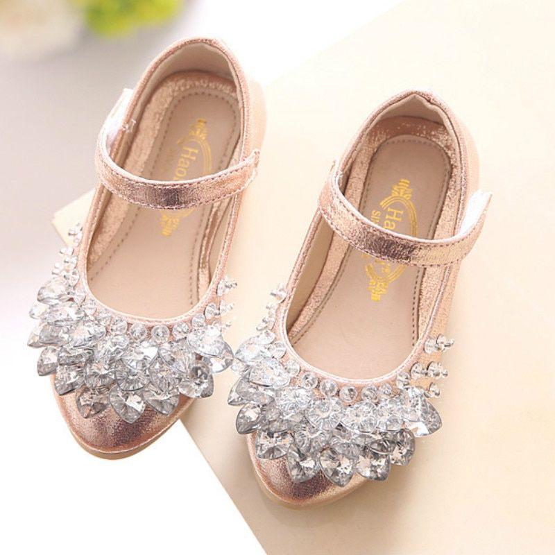 05b6a95937 Rhinestone Flats   Flats   Princess shoes, Kid shoes, Girls shoes