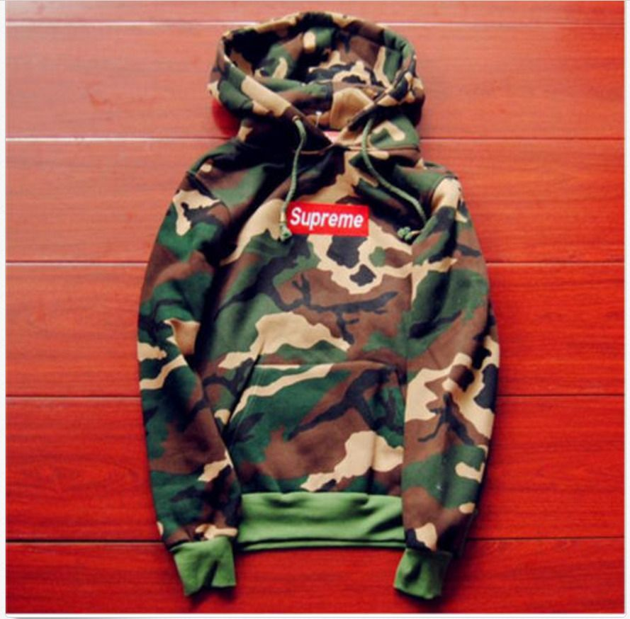 49c91b0398ab Supreme Camouflage Hoodie Sweater in 2019