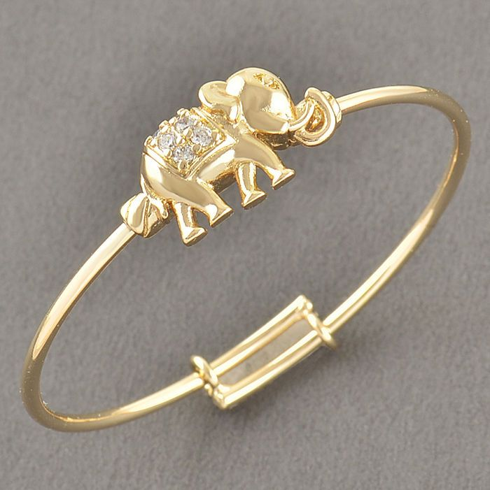Toddler Jewelry Yellow Gold Filled Infant Childrens Crystal