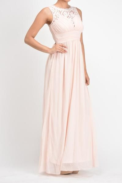 Affordable Chiffon Long Bridesmaid Dress C