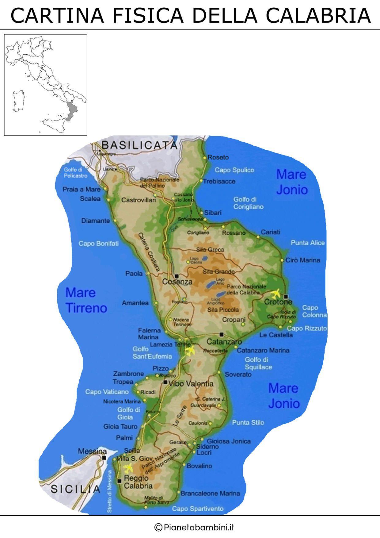 Cartina Calabria Mare.Manica Ricaderci Costante Cartina Calabria Mare Amazon Monzacorre It