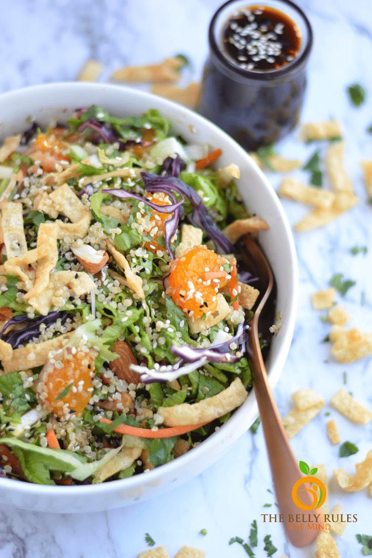 asian quinoa salad with sesame gingergarlic dressing  recipe  asian quinoa salad quinoa