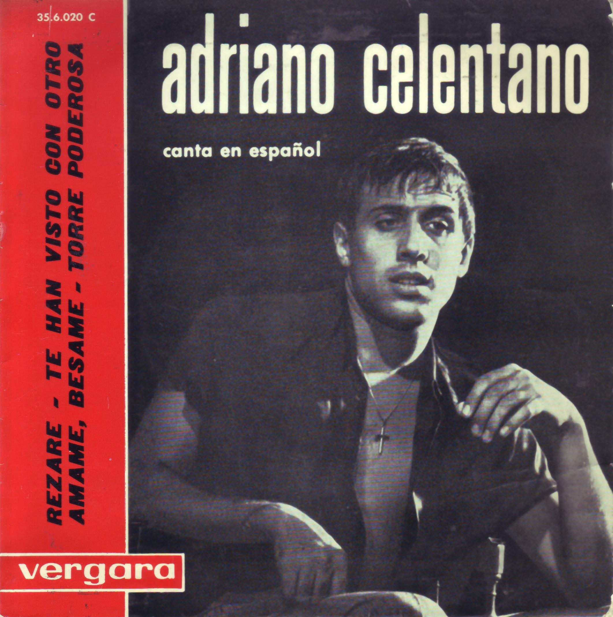 Vinilo Adriano Celentano Frontal Portadavinilo Covervinyl 7inch