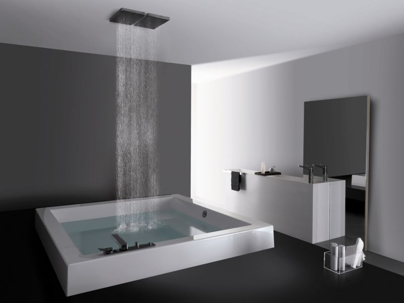 Built In Square Methacrylate Bathtub GRANDE QUADRA By Kos By Zucchetti  Design Ludovica Roberto Palomba