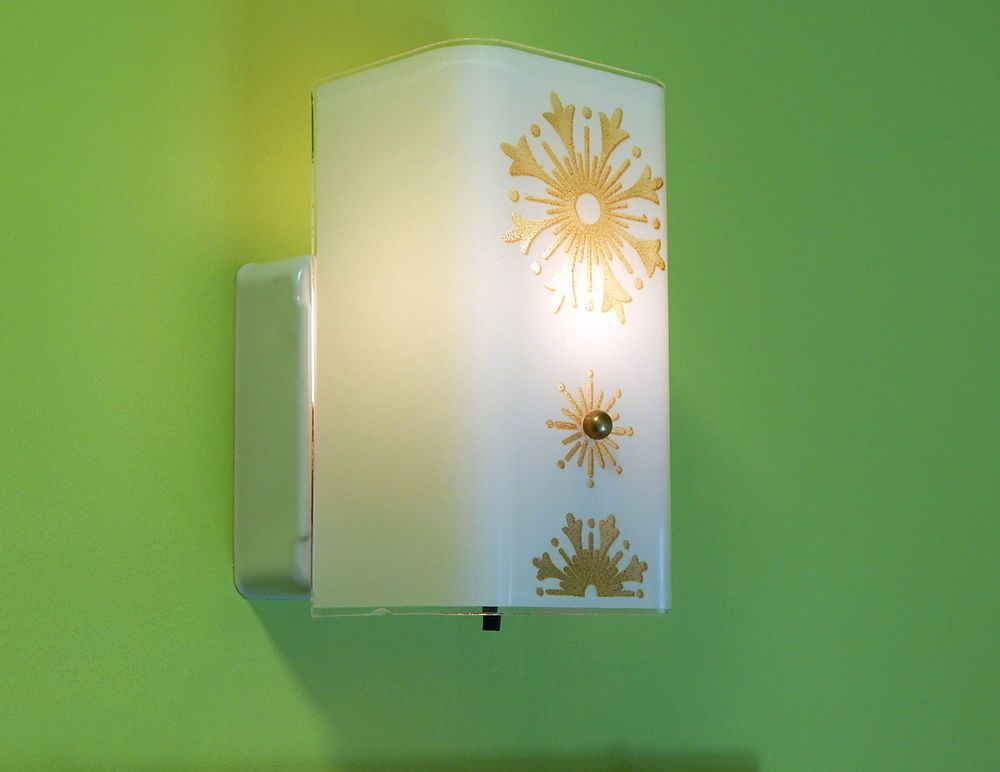 Vintage Mid Century Wall Sconce Light Fixture with Rotary Switch ...