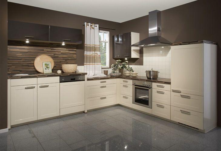yli tuhat ideaa: küche beige pinterestissä | eckküche,wandfarbe, Wohnzimmer design