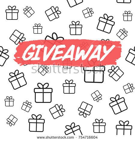Giveaway Card Template For Blogs Vector Background With Gift Boxes Card Template Vector Background Cards