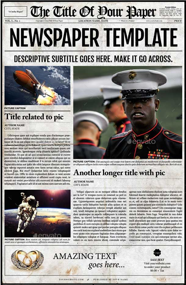 Amazing Newspaper Templates Available In Psd  Indesign