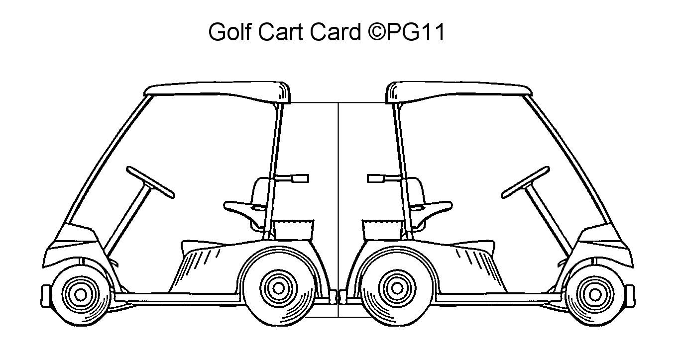 golf cart card template i made golf pinterest cards card