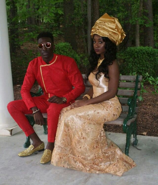 f7de4f5feaf4a These girls are all killing it. But not all African fabrics are the same,  nor are they all worn uniformly across Africa. Prom Dresses Slay, African  Prom ...