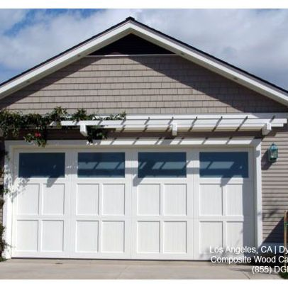 Custom Designed ECO Friendly Composite Wood Garage Doors   Traditional    Garage And Shed   Los Angeles   Dynamic Garage Door
