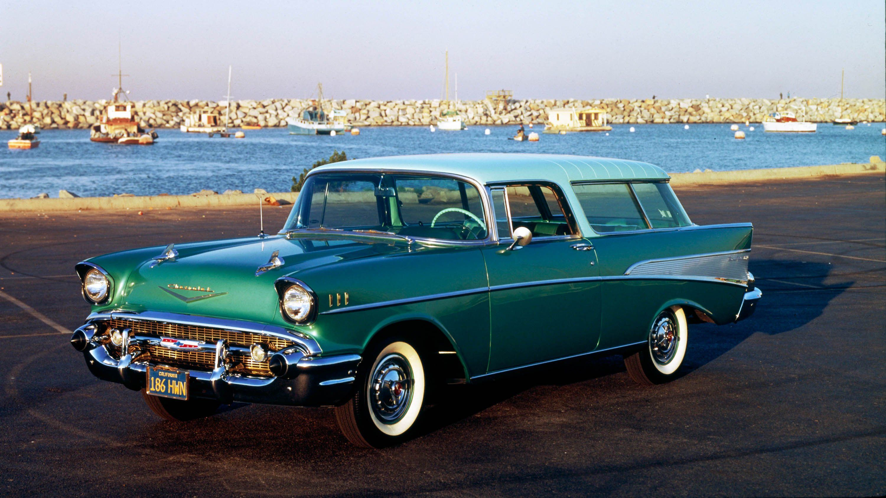 1957 Chevy Bel Air Nomad Station Wagon Finned Beauty With Extra