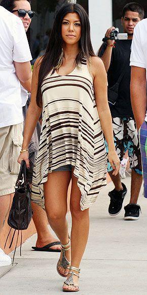 Kourtney Kardashian's Glam Bump Style - SIDEWALK STROLL - Babies, Pregnancy, Fashion : People.com