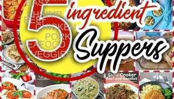 Easy 5 Ingredients or LESS Recipes for Simple Family Suppers