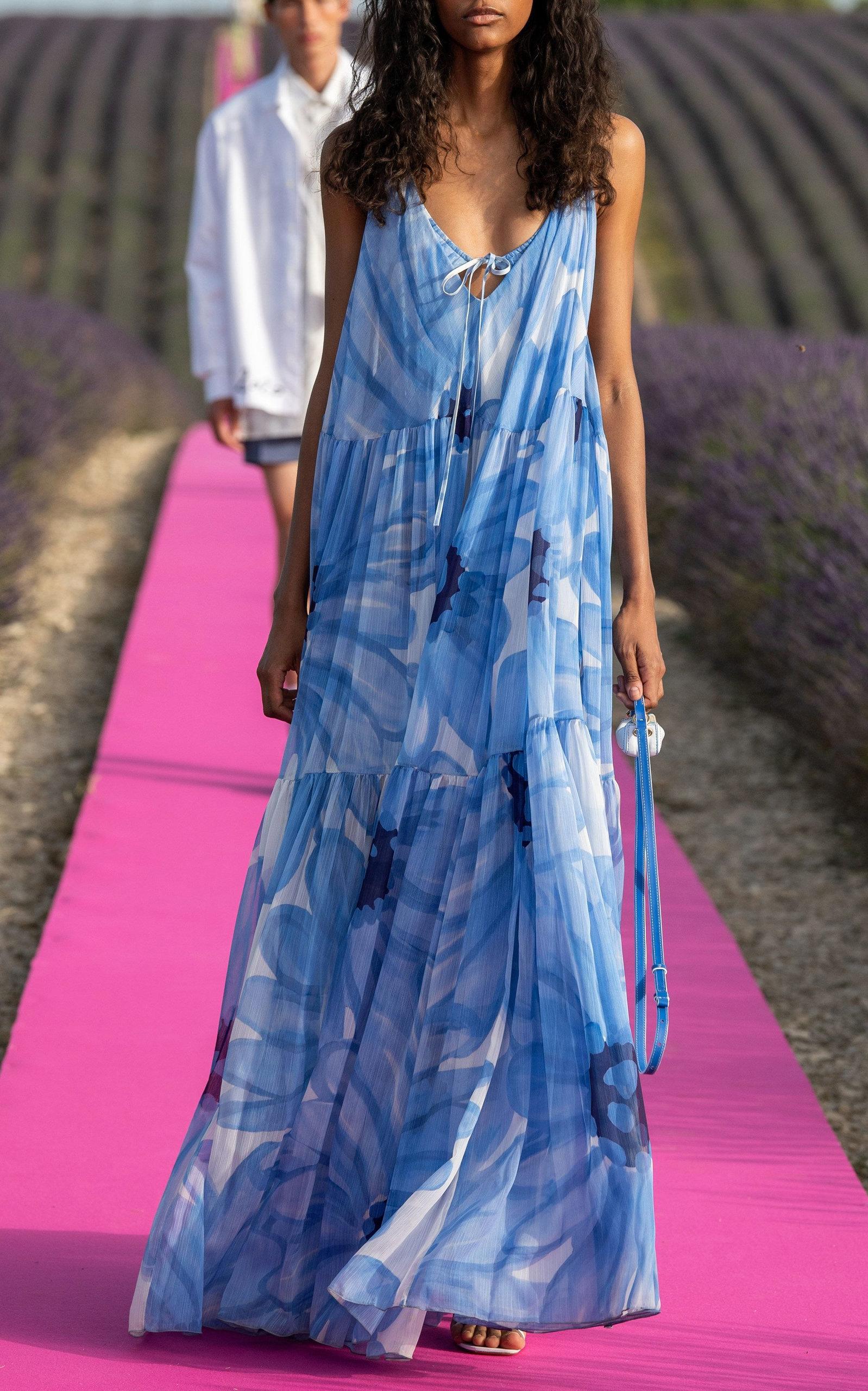Jacquemus Le Nani Leather Bag Jacquemus Bags Leather Floral Print Chiffon Maxi Dress Maxi Dress Fashion [ 2560 x 1598 Pixel ]