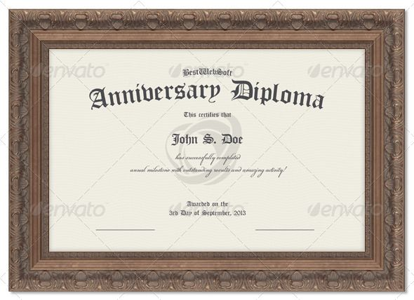 Anniversary Diploma Certificate Certificate, Anniversaries and - diploma word template