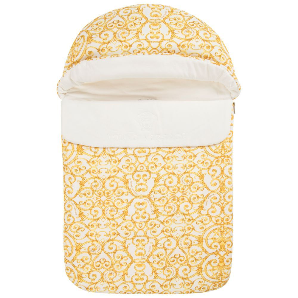 709f7aab3bd5 Young Versace Gold Baroque Baby Nest (76cm). Shop from an exclusive  selection of designer Nests   Sleep Bags