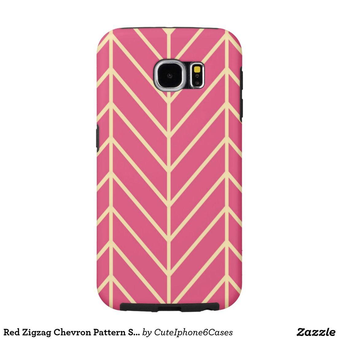 Red Zigzag Chevron Pattern Samsung Galaxy S6 Case Samsung Galaxy S6 Cases
