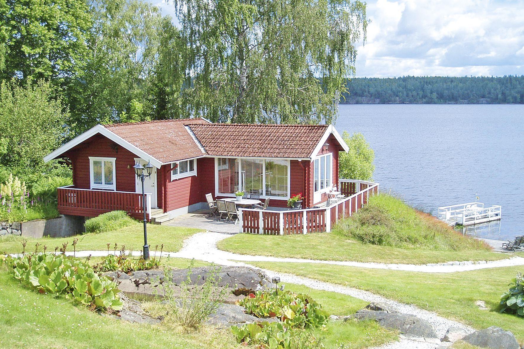 Traum am See Rotes Ferienhaus mit tollem Blick über den See …mmel¥ngen und Umgebung