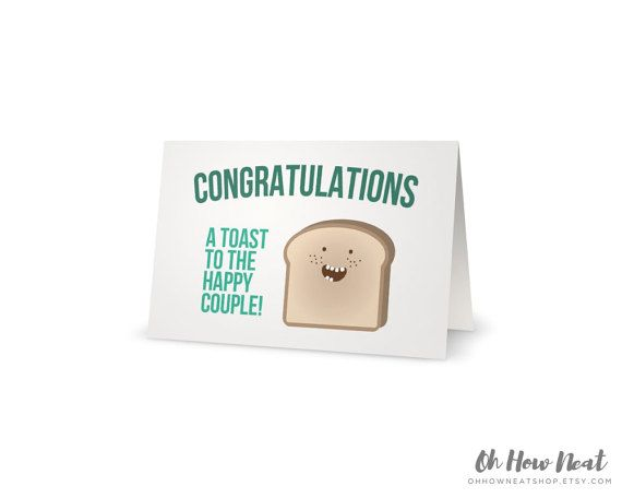Punny Congratulations Wedding Anniversary Engagement Card