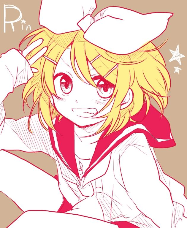 Kagamine Rin, , Vocaloid, , Short Hair, , Blonde Hair