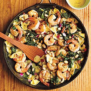 Warm Shrimp Pasta Salad