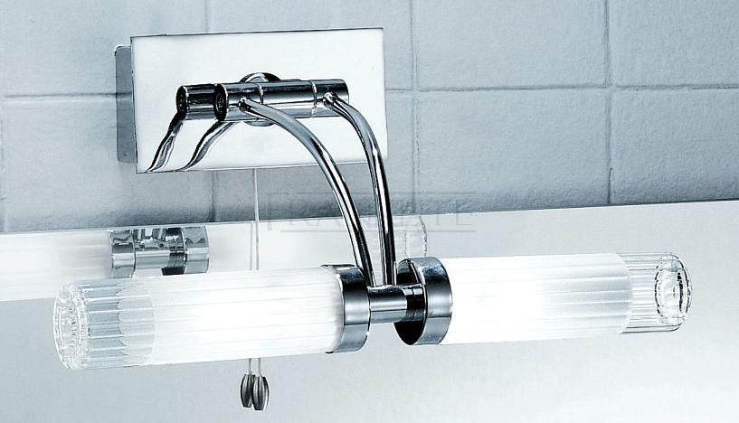Ribbed Shade Adjustable Bathroom Over-Mirror Light