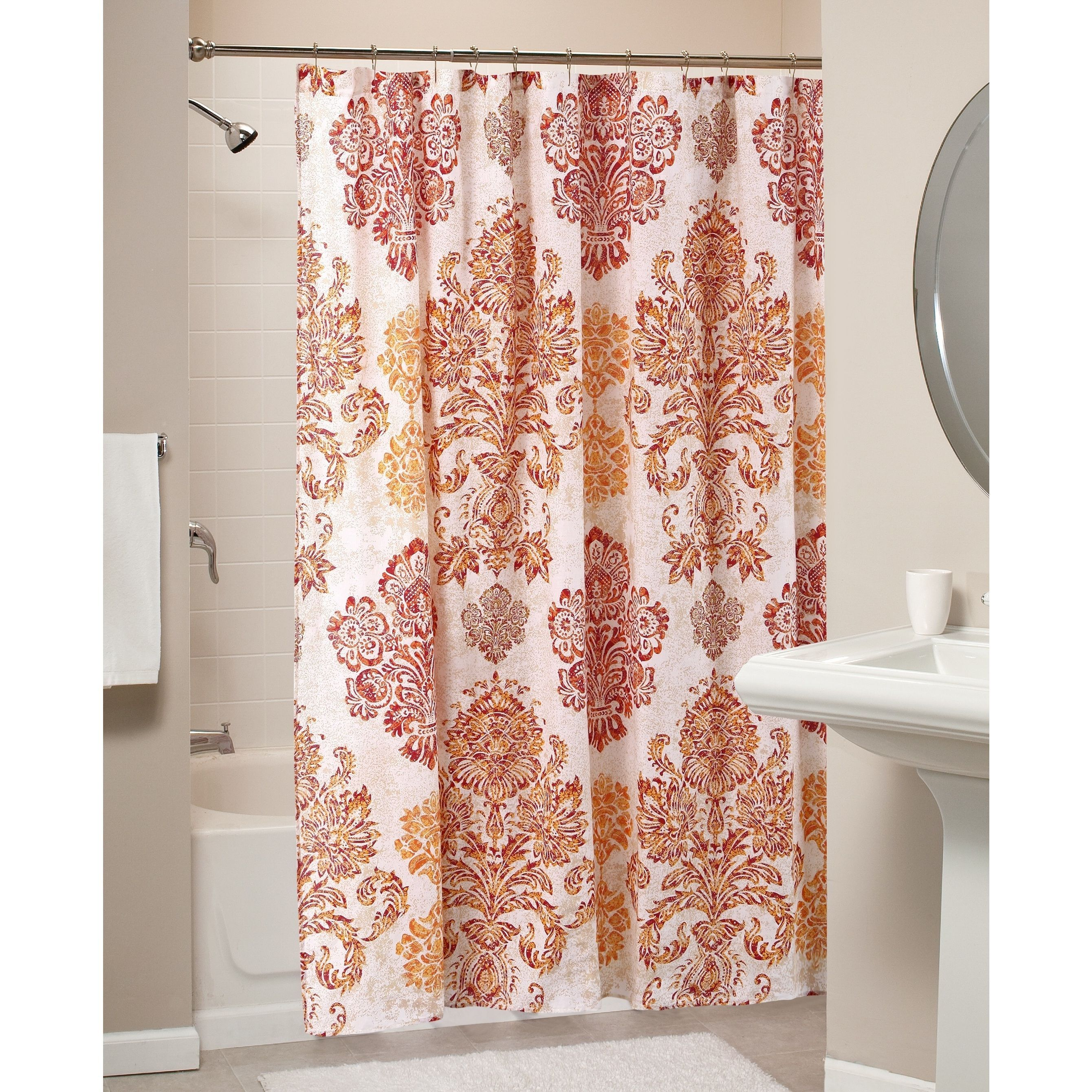 Styled To Evoke The Glory Of Ancient Empires, The Tuscany Shower Curtain  Features Ornamental Damasks