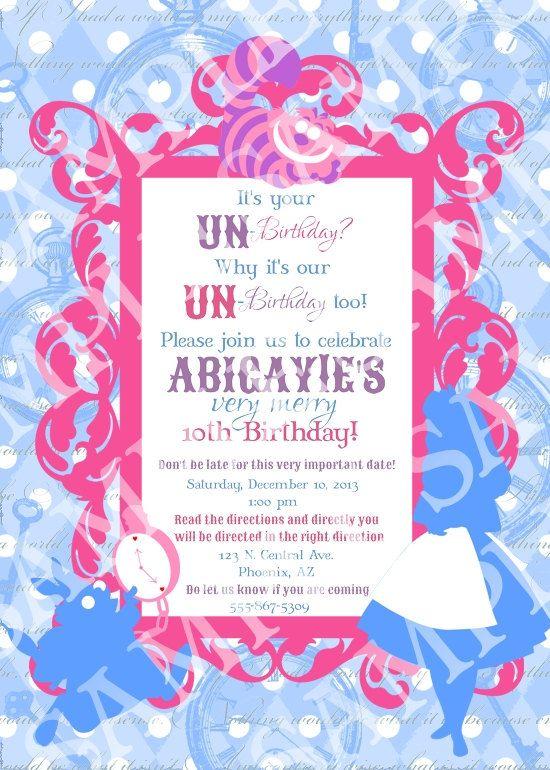 Custom Alice in Wonderland Birthday Party by creativelyexpressive, $16.00