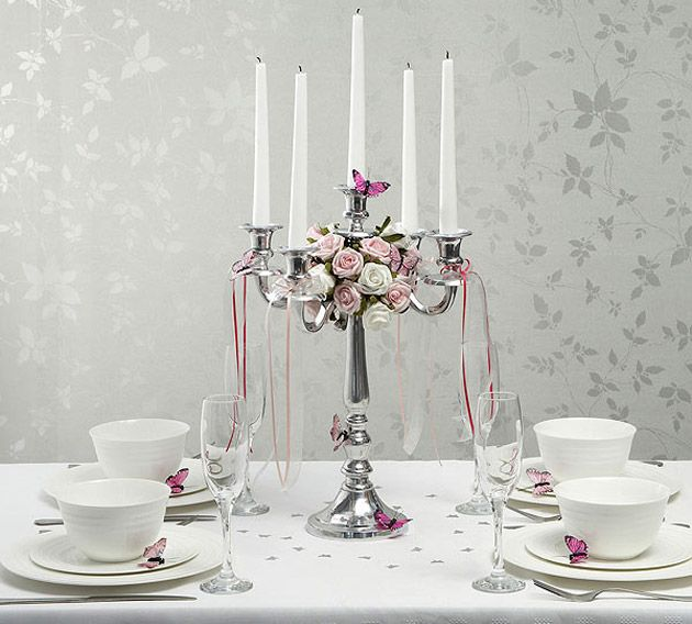 Beautiful Wedding Centrepiece Ideas Silver Candelabra